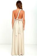 Always Stunning Convertible Beige Maxi Dress 5