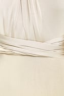 Always Stunning Convertible Beige Maxi Dress 6