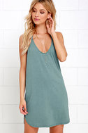 Thrilled to Bits Washed Green Dress 1