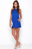 Tupelo Honey Royal Blue Dress 2