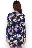 That's a Wrap Navy Blue Floral Print Dress 4