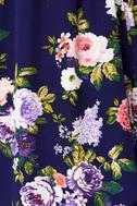 That's a Wrap Navy Blue Floral Print Dress 6