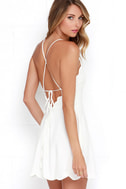 Play On Curves Ivory Backless Dress 1