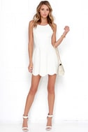 Play On Curves Ivory Backless Dress 2