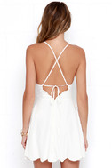 Play On Curves Ivory Backless Dress 4