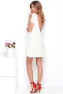 Thank You V Much Ivory Backless Swing Dress 2