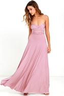 LULUS Exclusive Tricks of the Trade Mauve Maxi Dress 2