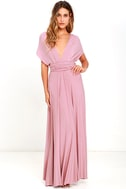 LULUS Exclusive Tricks of the Trade Mauve Maxi Dress 3