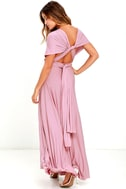 LULUS Exclusive Tricks of the Trade Mauve Maxi Dress 4