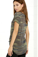 At Attention Green Camo Print Tee 3