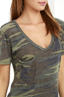At Attention Green Camo Print Tee 5