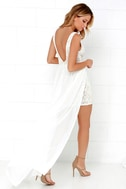 Make Way for Wonderful Off White Lace Maxi Dress 4