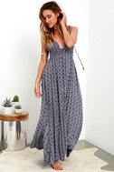 Field Day Navy Blue Print Maxi Dress 2