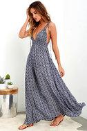 Field Day Navy Blue Print Maxi Dress 4