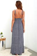 Field Day Navy Blue Print Maxi Dress 5