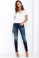Blank NYC Skinny Classique Distressed Dark Blue Skinny Jeans 1