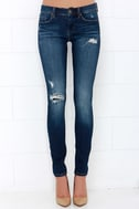 Blank NYC Skinny Classique Distressed Dark Blue Skinny Jeans 3