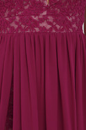 Make Way for Wonderful Berry Red Lace Maxi Dress 5