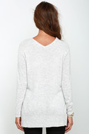Name the Day Heather Grey V Neck Sweater 4