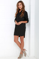 City Strut Black Shirt Dress 2