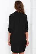 City Strut Black Shirt Dress 4
