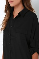 City Strut Black Shirt Dress 5