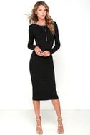 Va Va Voom Black Backless Midi Dress 2