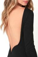 Va Va Voom Black Backless Midi Dress 5