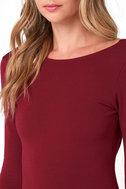 Va Va Voom Wine Red Backless Midi Dress 5