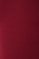 Va Va Voom Wine Red Backless Midi Dress 6