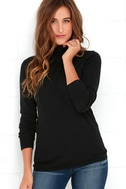 Comin' Up Cozy Black Turtleneck Sweater 1