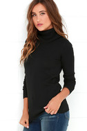 Comin' Up Cozy Black Turtleneck Sweater 3