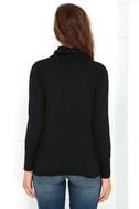 Comin' Up Cozy Black Turtleneck Sweater 4