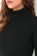 Comin' Up Cozy Black Turtleneck Sweater 5