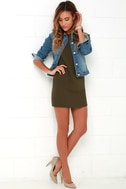 Shift and Shout Olive Green Shift Dress 2