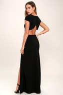 Conversation Piece Black Backless Maxi Dress 3