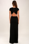 Conversation Piece Black Backless Maxi Dress 4