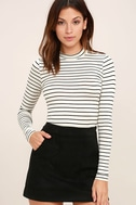 Anything is Posh-ible White Striped Top 1