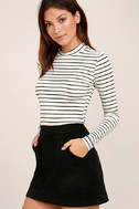 Anything is Posh-ible White Striped Top 3