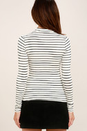 Anything is Posh-ible White Striped Top 4