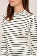 Anything is Posh-ible White Striped Top 5