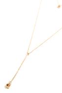 Joli Gold and Champagne Rhinestone Layered Drop Necklace 3