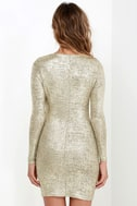 Luxe of My Life Gold Long Sleeve Dress 5