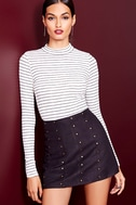 Anything is Posh-ible White Striped Top 7