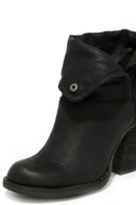 Sbicca Chord Black Fold-Over Boots 6