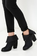 Sbicca Chord Black Fold-Over Boots 2