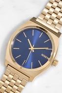 Nixon Time Teller Light Gold and Cobalt Watch 1
