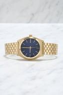 Nixon Time Teller Light Gold and Cobalt Watch 3