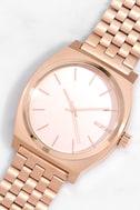 Nixon Time Teller Rose Gold Watch 1