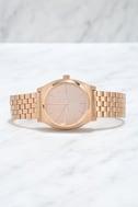 Nixon Time Teller Rose Gold Watch 3